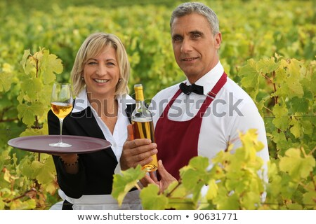 two wine waiters posing in vineyards Stock photo © photography33