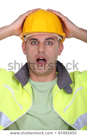 A construction worker who made a mistake. Stock photo © photography33