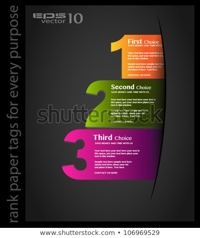 Paper style Ranking tags to classification or product rating. Shadows are transparent. Easy cut and  Stock photo © DavidArts