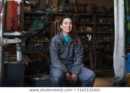 Aprendiz femenino mujer trabajo atrás universidad Foto stock © photography33