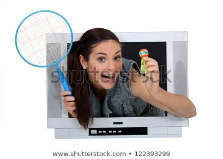 czerwony · telewizja · retro · kolor · sprawdzić · wzór - zdjęcia stock © photography33