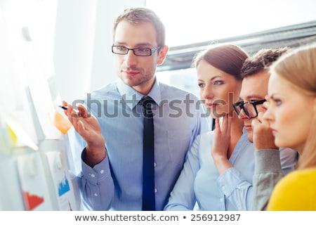 Fiatal üzletemberek mentor fehér kezek boldog Stock fotó © wavebreak_media
