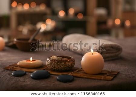 Masszázs asztal fotó lány terapeuta meztelen Stock fotó © pressmaster