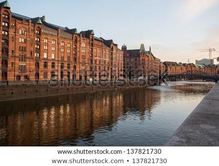 Speicherstadt, large warehouse district of Hamburg, Germany Stock photo © meinzahn