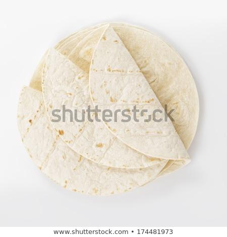 пшеницы плоская маисовая лепешка изолированный белый сэндвич свежие Сток-фото © michaklootwijk