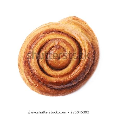 Um rolar pão branco fundo jantar Foto stock © tarczas