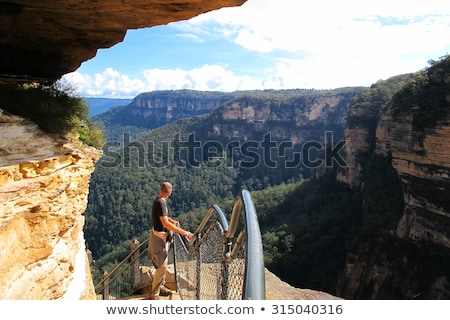 Katoomba Falls in Blue Mountains Australia Stock photo © backyardproductions