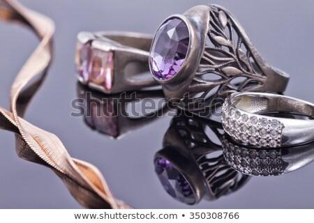 Violet gemstone ring Stock photo © dezign56