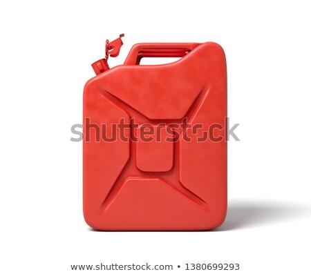 üzemanyag izolált narancs ipar benzin műanyag Stock fotó © ozaiachin