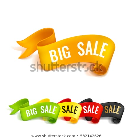 Groot verkoop groene sticky notes vector icon Stockfoto © rizwanali3d