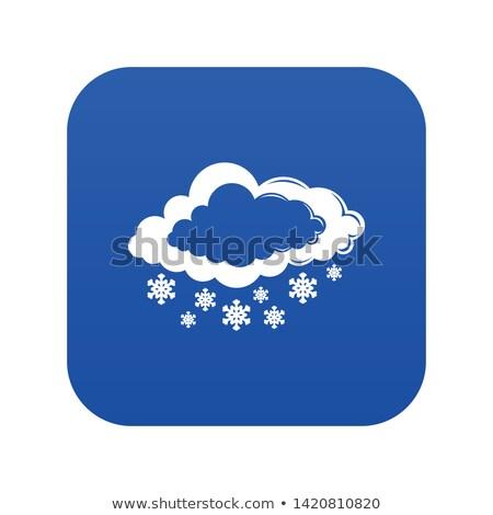синий простой снежинка изолированный белый Сток-фото © lenapix