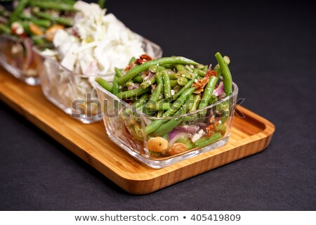 Healthy green beans salad and tasty Waldorf  Stock photo © Klinker