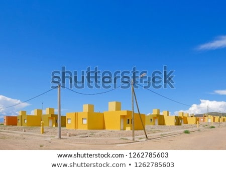 settlement of new houses all in same style Stock photo © meinzahn