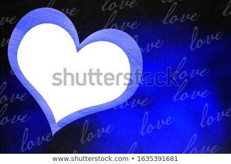 Light streak forming a love heart Stock photo © IS2