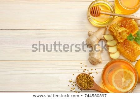 Vers honing honingraat specerijen vruchten citroenen Stockfoto © joannawnuk