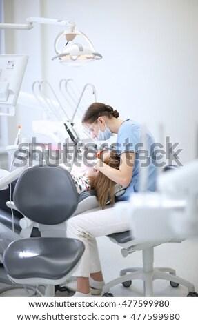 oral · cavidade · imagem · mulher · jovem · boca · aberta - foto stock © nessokv