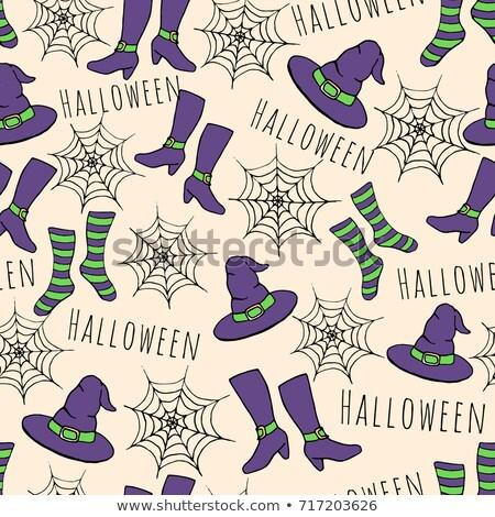 紫色 魔女の帽子 パターン ギフト その他 ストックフォト © toffees