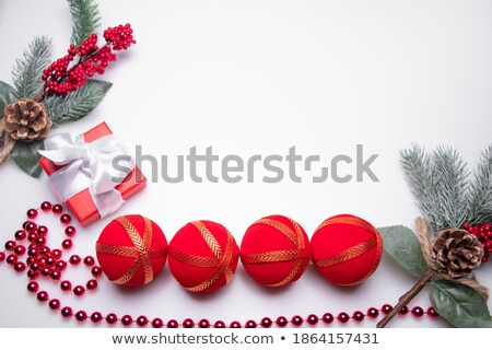 Baubles and beads near Christmas presents Stock photo © dash