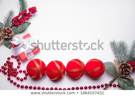 Gyöngyök karácsony ajándékok gyönyörű pici piros Stock fotó © dash
