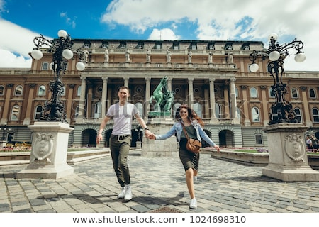 loving couple in budapest hungary stock photo © boggy