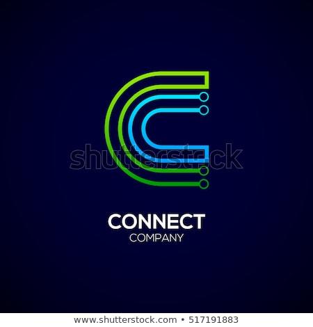 ロゴタイプ 緑 手紙 シンボル ベクトル にログイン ストックフォト © blaskorizov