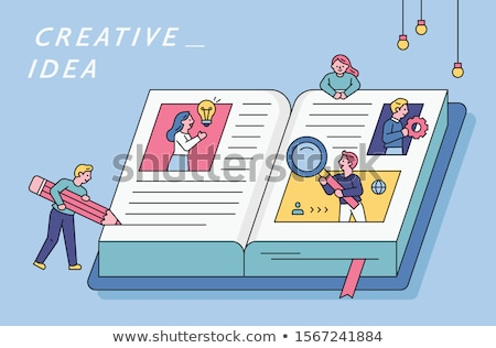 search concept   flat design style colorful illustration stock photo © decorwithme