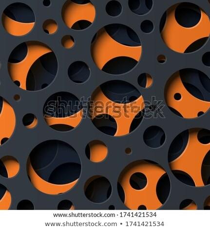 orange papercut elegant 3d background Stock photo © SArts