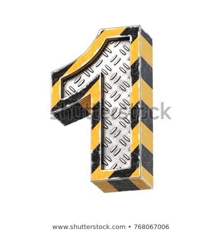Zardzewiałe metal chrzcielnica numer jeden 3D Zdjęcia stock © djmilic