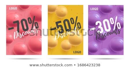 stylish grand opening balloons background Stock photo © SArts