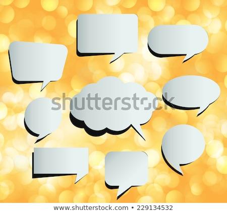 Witte papier oranje abstract ontwerp Stockfoto © olehsvetiukha