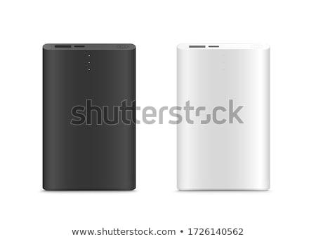 青 バッテリー 電源 銀行 ケーブル 白 ストックフォト © magraphics