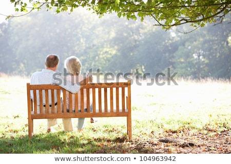 familia · sesión · parque · hablar · junto · ninos - foto stock © dolgachov