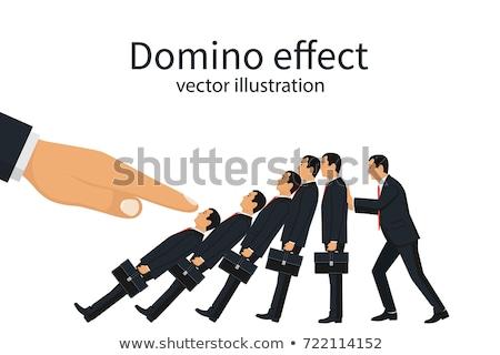 Big hand pushing businessman Stock photo © nomadsoul1