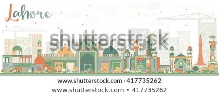 Abstrato linha do horizonte cor turismo histórico Foto stock © ShustrikS