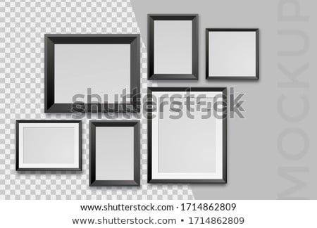 Pusty sztuki ramki galerii ściany Zdjęcia stock © Anneleven