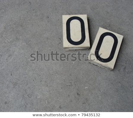 Plastica pari a zero numero grigio pietra superficie Foto d'archivio © Melvin07
