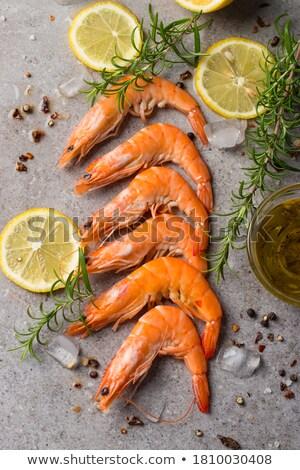 Cytryny krewetki klin pietruszka dekorować żywności Zdjęcia stock © stevemc