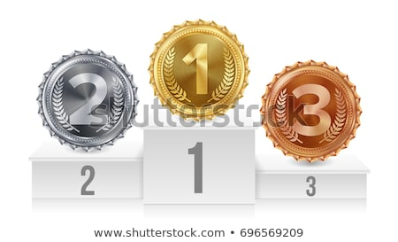 goldsilver and bronze on medals podium stock photo © bbbar