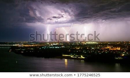 dark dramatic sky over river Stock photo © mycola