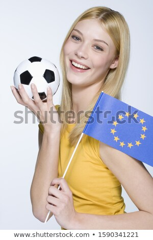 Flag of european union with football in front of it Stock photo © MikhailMishchenko