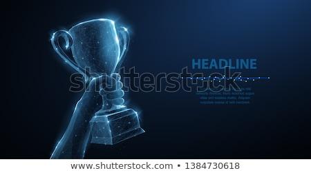 Vector leiderschap sterren abstract Rood zwarte Stockfoto © freesoulproduction