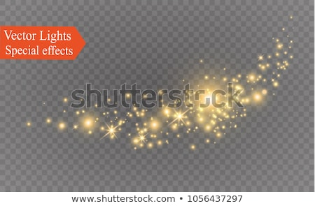 transparent light effect with sparkling effect Stock photo © SArts
