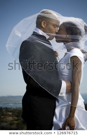 Young african-american happy groom. Stock photo © RAStudio