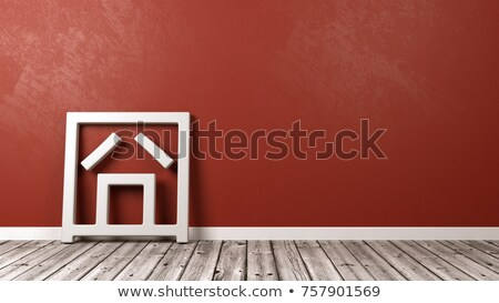 Jiong Chinese Character Emoticon on Floor Stock photo © make