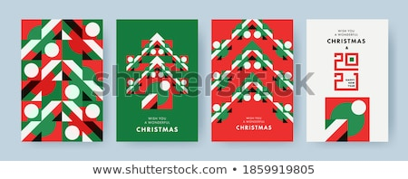 Christmas Tree Made of Geometric Shapes Vector Stock photo © robuart