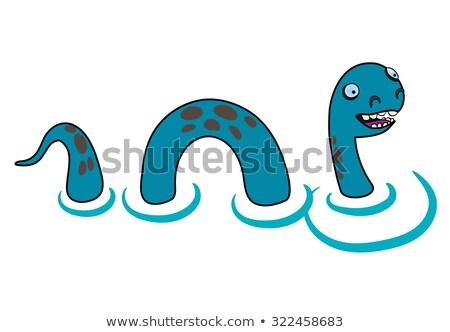 Cartoon Sea Monster Smiling Stock photo © cthoman