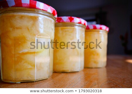 Apple compote in glass Stock photo © AGfoto