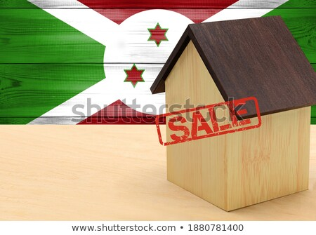 Casa bandeira Burundi branco casas Foto stock © MikhailMishchenko