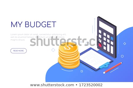 My budget - modern colorful isometric web banner Stock photo © Decorwithme