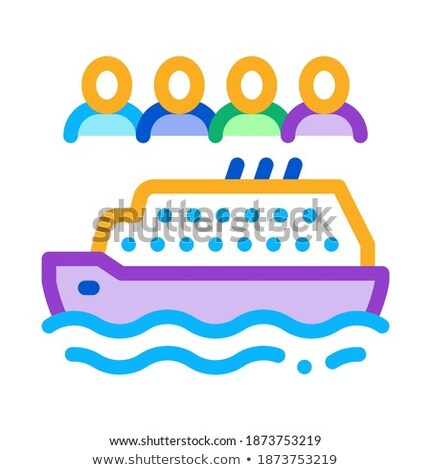 sea crossing liner people icon vector outline illustration Stock photo © pikepicture